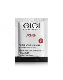 GIGI Acnon Triple Acid Rapid Wipes